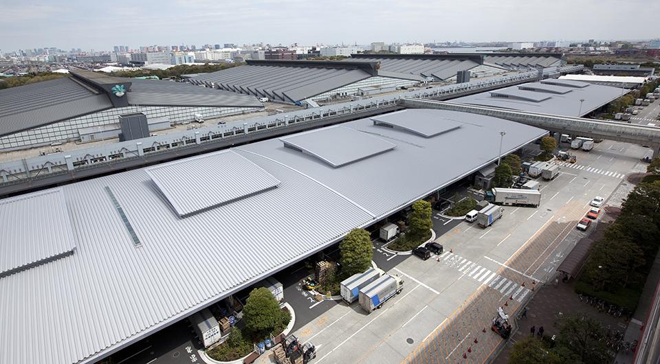 東京都中央卸売市場 大田市場南側屋根